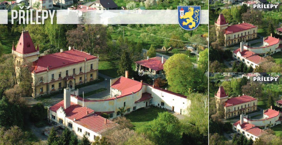 """<p rel=""""noopener"""" class=""""number"""">003  <p rel=""""noopener"""" class=""""right"""">Přílepy   </p> <p><x><br />Přílepy – zámek, bývalé sídlo rodu Seilern-Aspang, ale i rodiště více než 21 000 dětí. Zlínský kraj, okres Kroměříž Veřejná sbírka na rekonstrukci zámku č. účtu 115-7191560247/0100"""