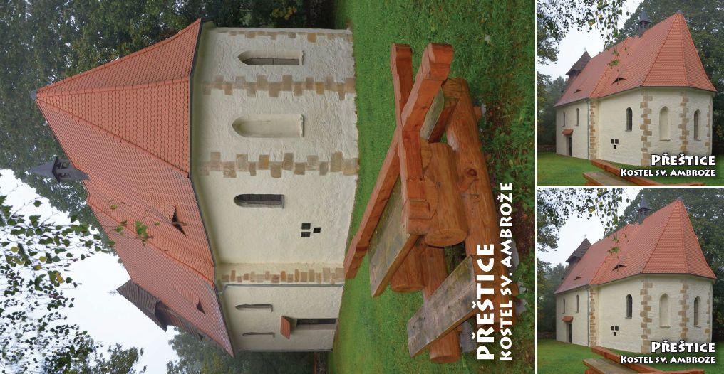 """<p rel=""""noopener"""" class=""""number"""">021  <p rel=""""noopener"""" class=""""right"""">Přeštice   </p> <p><x>Kostel sv. Ambrože<br />Kulturní památka byla vybudována kolem poloviny 13. století pravděpodobně benediktinským klášterem v Kladrubech kolem vsi Vícov. Dnes je v majetku města Přeštice."""