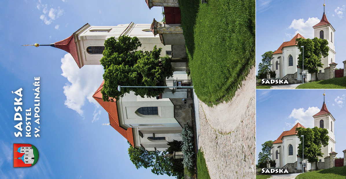 """<p rel=""""noopener"""" class=""""number"""">055  <p rel=""""noopener"""" class=""""right"""">Sadská   </p> <p><x>Kostel sv. Apolináře v Sadské<br />V roce 1118 nechal kníže Bořivoj II. vystavět románský kostel  zasvěcený svatému Apolináři. Roku 1380 byl chrám přestavěn, ovšem vroce 1421 vyhořel a opraven byl teprve vroce 1584. Současnou podobu tzv. barokní gotiky kostelu vtiskla přestavba započatá vroce 1737, která změnila půdorys i celkovou výšku stavby. <a href=""""http://www.kic-sadska.cz"""">www.kic-sadska.cz</a>"""