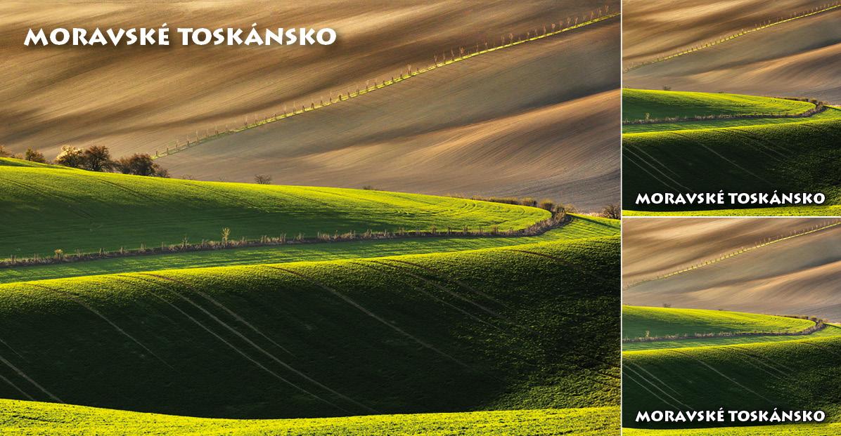 """<p rel=""""noopener"""" class=""""number"""">061  <p rel=""""noopener"""" class=""""right"""">Kyjov   </p> <p><x>Moravské Toskánsko. Jedinečná krajina v okolí Kyjova, charakteristická jsou pro ni zvlněná pole, která protínají různé linie, remízky a ostrůvky a zdobí je osamělé kapličky a boží muka.<br />Fotografie: Marek Svoboda – archiv města Kyjova."""