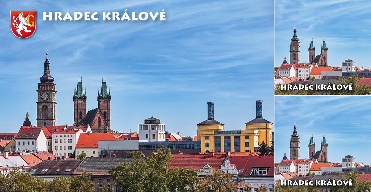"""<p rel=""""noopener"""" class=""""number"""">063  <p rel=""""noopener"""" class=""""right"""">Hradec Králové   </p> <p><x>Netradiční pohled na dominanty Hradce Králové - královského věnného města na soutoku řek Labe a Orlice. Zleva: věžička kaple sv. Klimenta, Bílá věž, katedrála sv. Ducha, vodní věž Kozinka a věže bývalého pivovaru.<br />Foto: Zdeněk Puš Turistické informační centrum Hradec Králové, <a href=""""http://www.hkinfo.cz"""">www.hkinfo.cz</a>"""