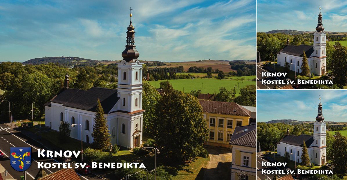 """<p rel=""""noopener"""" class=""""number"""">087  <p rel=""""noopener"""" class=""""right"""">Krnov Kostel sv. Benedikta   </p> <p><x>Sakristie kostela je z 1. poloviny 13. století a byla kněžištěm původního středověkého kostela. Nachází se v ní soubor nástěnných maleb z 13. a 15. století, které nemají v českém Slezsku obdoby.<br />Foto: Město Krnov / TIC Krnov <a href=""""http://www.infokrnov.cz"""">www.infokrnov.cz</a>"""